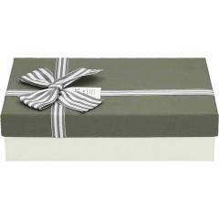 Darilna škatla, siva Pravokotna 24X17X6,5Cm 775175A