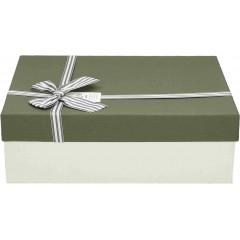 Darilna škatla, siva Pravokotna 33X25X11,5Cm 775175C