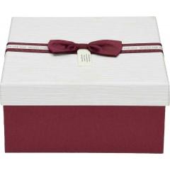 Darilna škatla, rdeča Kvadrat 17X17X8Cm 775178B