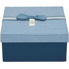 Darilna škatla, modra Kvadrat 17X17X8Cm 775179B