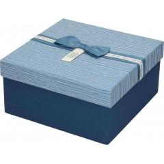 Darilna škatla, modra Kvadrat 19X19X9,5Cm 775179C