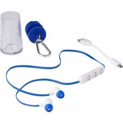Brezžične slušalke za prostoročno telefoniranje v etuiju s karabinom, modra 7765-05