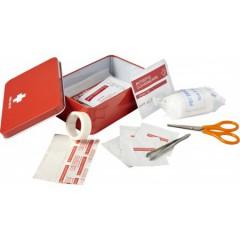 Prva pomoč v kovinski škatli - 15-delni, rdeča 7792-08