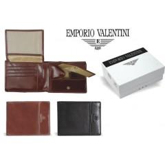 Denarnica usnjena Valentini črna 78074, črna