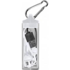 Brezžične slušalke za prostoročno telefoniranje v etuiju s karabinom, bela 7816-02