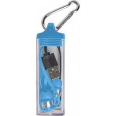 Brezžične slušalke za prostoročno telefoniranje v etuiju s karabinom, modra 7816-05