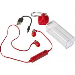 Brezžične slušalke za prostoročno telefoniranje v etuiju s karabinom, rdeča 7816-08