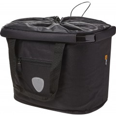Košara za kolo z vodoodpornim pokrovom, črna 7824-01