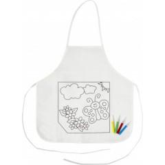 Otroški predpasnik s flomastri, bela-multicolor 7828-02