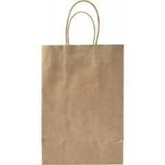 Darilna vrečka iz EKO papirja 23,5 × 16 × 8,5 cm, svetlo rjava 7840-11
