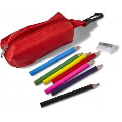 Barvice s šilčkom v peresnici s karabinom, rdeča 7843-08