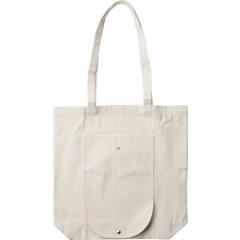 Nakupovalna - plažna torba z dolgimi ročaji - zložljiva, bela 7854-13