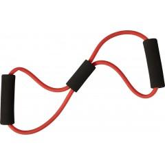 Fitnes elastika s pena ročaji, rdeča 7861-08