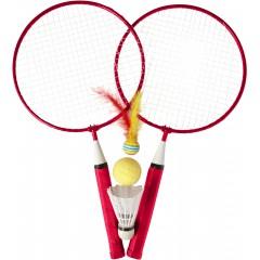 Badminton set z loparjema in različnimi žogicami, rdeča 7867-08