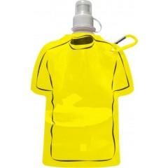 Zložljiva steklenica za vodo s karabinom T-shirt 450ml, rumena 7877-06