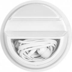 Nosilec za mobitel s slušalkami, bela 7898-02