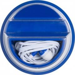 Nosilec za telefon s slušalkami, modra 7898-05