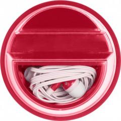 Nosilec za mobilni telefon s slušalkami, rdeča 7898-08