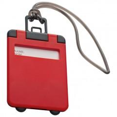 Označevalec prtljage - tablica za označevanje torbe ali potovalke Kemer, rdeča 791805