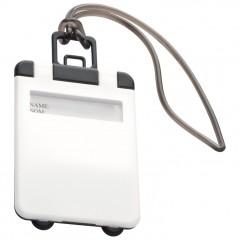 Označevalec prtljage - tablica za označevanje kovčka ali potovalke Kemer, bela 791806