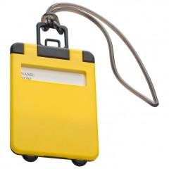 Označevalec prtljage - tablica za označevanje kovčka ali potovalke Kemer, rumena 791808