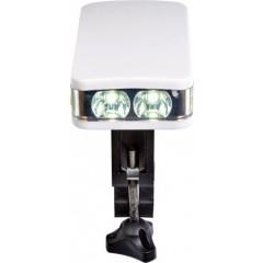 Kolesarska LED lučka z nosilcem, zelena 7924-19