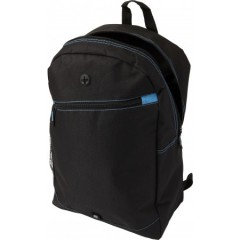 Modni nahrbtnik z odprtino za slušalke, črna-svetlo modra 7951-18