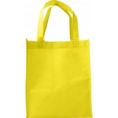 Darilna vreča iz netkanega materiala s širokim dnom, rumena 7957-06