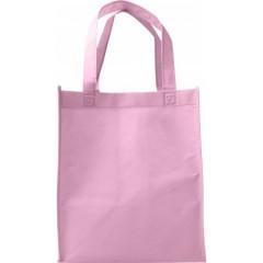 Darilna vrečka iz netkanega materiala s širokim dnom, roza 7957-17