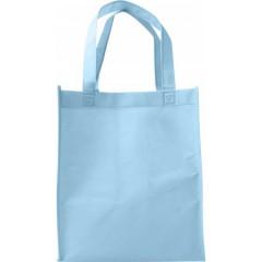 Darilna vrečka iz netkanega materiala s širokim dnom, svetlo modra 7957-18
