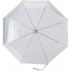 Prozorni dežnik z zavitim kljuka ročajem, transparentna 7962-02