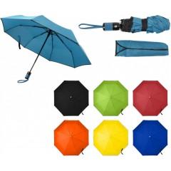 Avtomatski zložljiv dežnik z etuijem v barvi 95cm, črna 7964-01