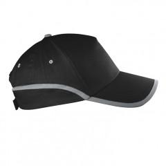 5-delna baseball kapa z odsevnim robom in odsevnim trakom Dallas, črna 804403