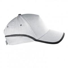 5-delna baseball kapa z odsevnim robom in odsevnim trakom Dallas, bela 804406