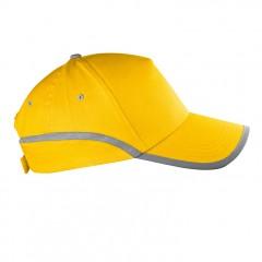 5-delna baseball kapa z odsevnim robom in odsevnim trakom Dallas, rumena 804408