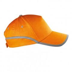 5-delna baseball kapa z odsevnim robom in odsevnim trakom Dallas, oranžna 804410