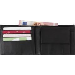 Moška denarnica iz usnja z RFID zaščito, črna 8064-01
