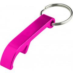 Kovinski obesek za ključe in odpirač za steklenice, roza 8517-17