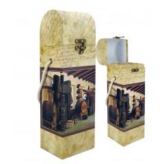 Škatla za vino Barrel iz kartona - potiskana 85210