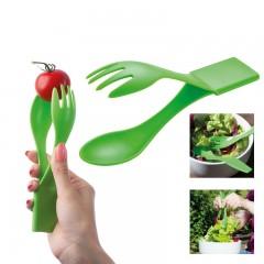 Plastični piknik nož, vilica in žlica v enem Cesena, svetlo zelena 853129