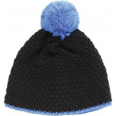 Pletena kapa Snow, črno-modra 86159