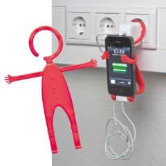 Nastavljiv nosilec za mobitel za vtičnico Lodsch, rdeča 862005
