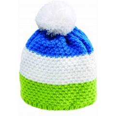 Pletena kapa Nordic, zelena, modra, bela 86298