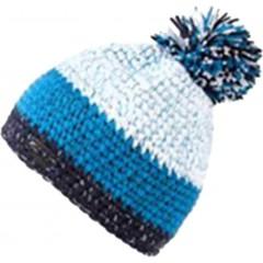 Pletena kapa Glacier, modra, bela  8644101
