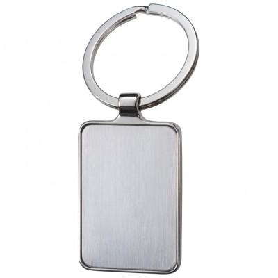 Kovinski pravokotni obesek za ključe Flint, siva 866107
