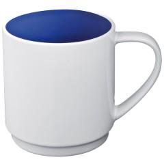 Skodelica za kavo ali čaj z barvno notranjostjo 300ml Lockport, modra 870504