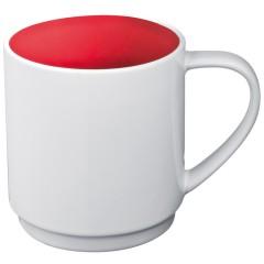 Skodelica za kavo ali čaj z barvno notranjostjo 300ml Lockport, rdeča 870505