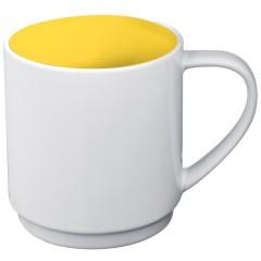 Skodelica za kavo ali čaj z barvno notranjostjo 300ml Lockport, rumena 870508