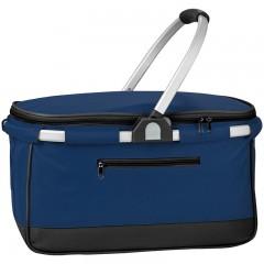 Košara za nakupovanje s pokrovom na zadrgo in hladilno izolacijo - ALU ročaj in ogrodje - Irland, temno modra 876344