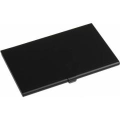 Etui - škatlica za vizitke iz aluminija, črna 8766-01